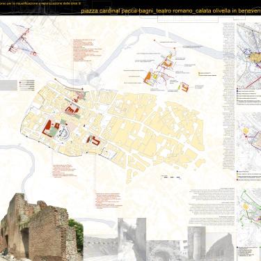 piazza cardinal pacca, bagni, teatro romano, calata divella   benevento