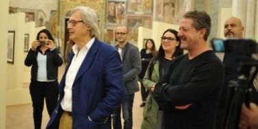 Vittorio Sgarbi incontra le opere di Cosimo Epicoco