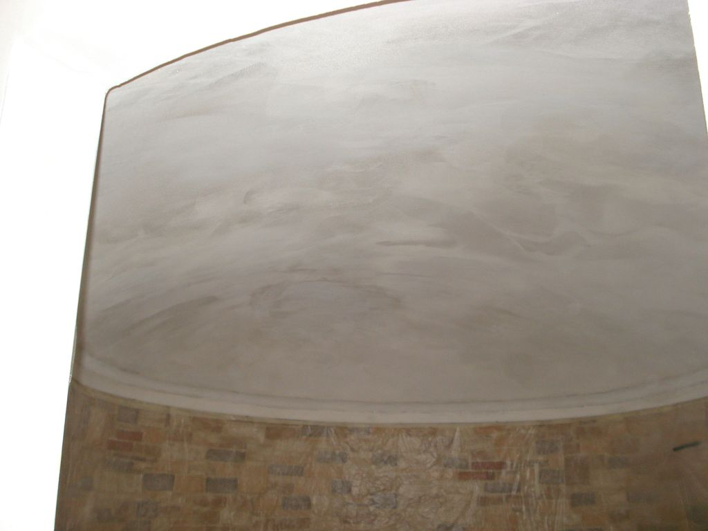 Trompe l'oeil soffitto ovale