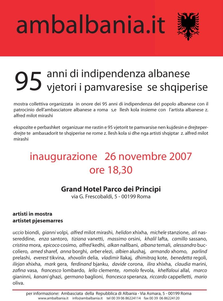 95 ANNI di INDIPENDENZA del POPOLO ALBANESE (2007) - Ambasciata della Repubblica di Albania (Roma)