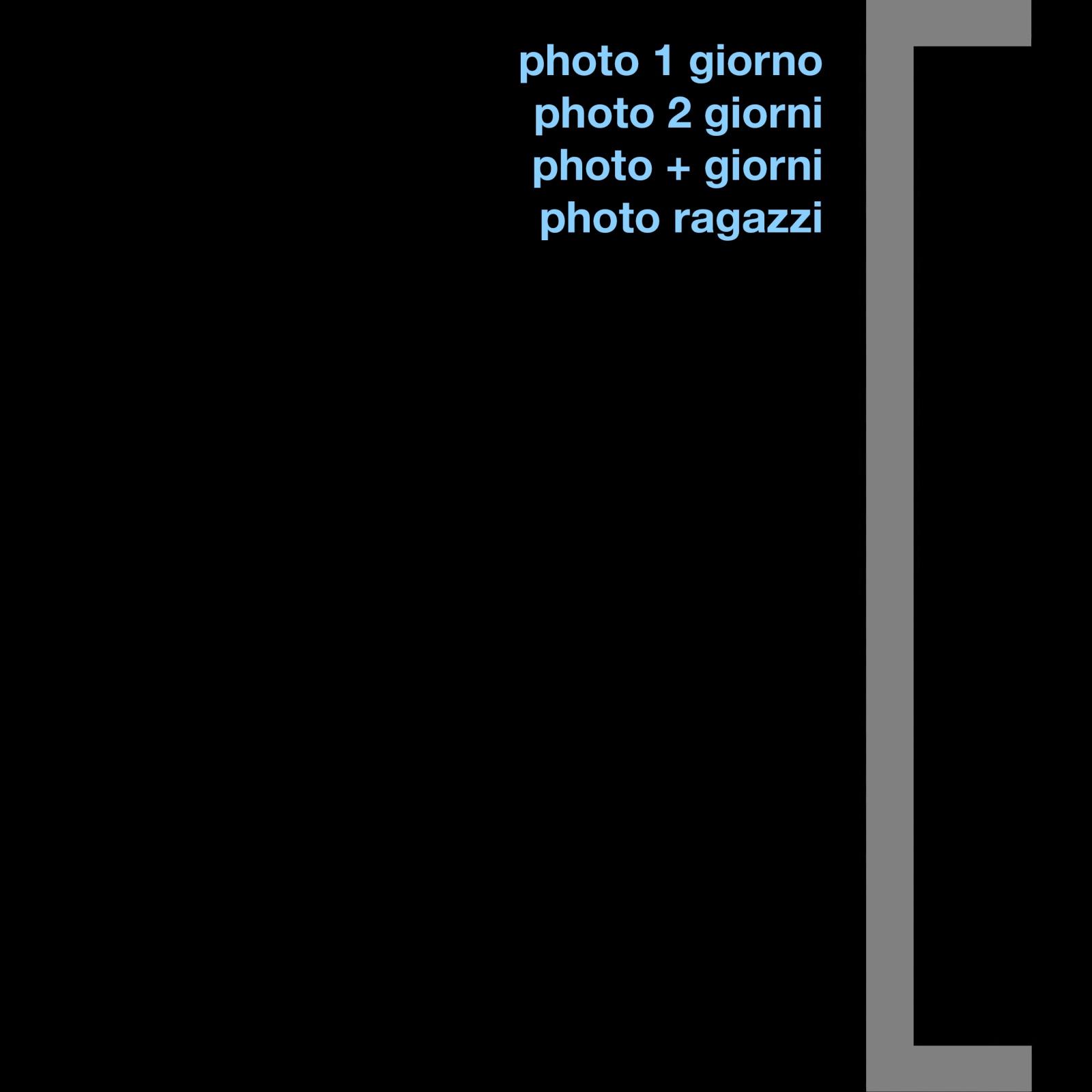 workshop - photofreelance organizza workshop che vanno da uno a più giorni con l'intento di far conoscere le varie tecniche fotografiche oltre a promuovere la cultura locale e territoriale.  architettura e paesaggio fanno da traino alle esperienze proposte: un modo pratico e piacevole per migliorare il proprio stile fotografico, conoscere nuovi posti e fotografare le loro bellezze.  photo 1 giorno si tratta in una piacevole escursione fotografica che si conclude nell'arco di una giornata.  partecipare è una buona occasione per imparare in modo pratico e immediato, accompagnati da un fotografo professionista, le tecniche inerenti la fotografia naturalistica e quella di paesaggio.  oltre che scoprire nuovi posti sarà anche un'occasione per confrontarsi, durante le escursioni, con altri appassionati.  photo 2 giorni consiste in una due giorni con pernottamento in albergo, in agriturismo, in tenda o in rifugio.  le mete selezionate offriranno spunti di interesse culturale e paesaggistico così da integrare le nozioni di tecnica fotografica con cenni di storia, di architettura e di tradizione locale.  ci sarà la possibilità di fotografare l'alba, il tramonto, il cielo stellato, stando insieme parlando di fotografia.  photo + giorni accompagnati da uno o più fotografi ci sarà modo, nell'arco di tre, quattro o più giorni, di imparare e approfondire la tecnica di ripresa fotografica nelle varie situazioni proposte.  saranno scelte destinazioni di forte impatto, con itinerari studiati anche in funzione dell'ora e della luce che si vuole catturare, per consentire la ripresa di fotografie particolari e suggestive. anche in questo caso si alterneranno momenti dedicati alla fotografia con altri incentrati sulla conoscenza dei luoghi.  photo ragazzi promuovere il reale nell'era virtuale: corsi sintetici di fotografia e giornate didattiche per le scuole con la fotocamera al collo. la macchina fotografica come mezzo per conoscere e apprezzare ciò che ci circonda. riconoscere un bosc