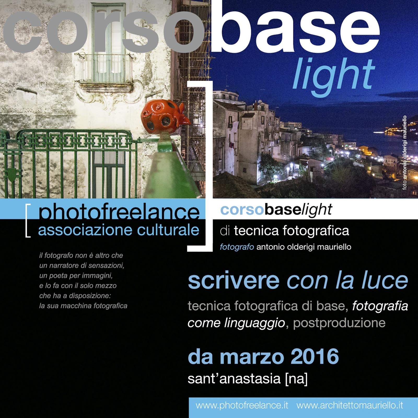 scrivere con la luce light | 2016